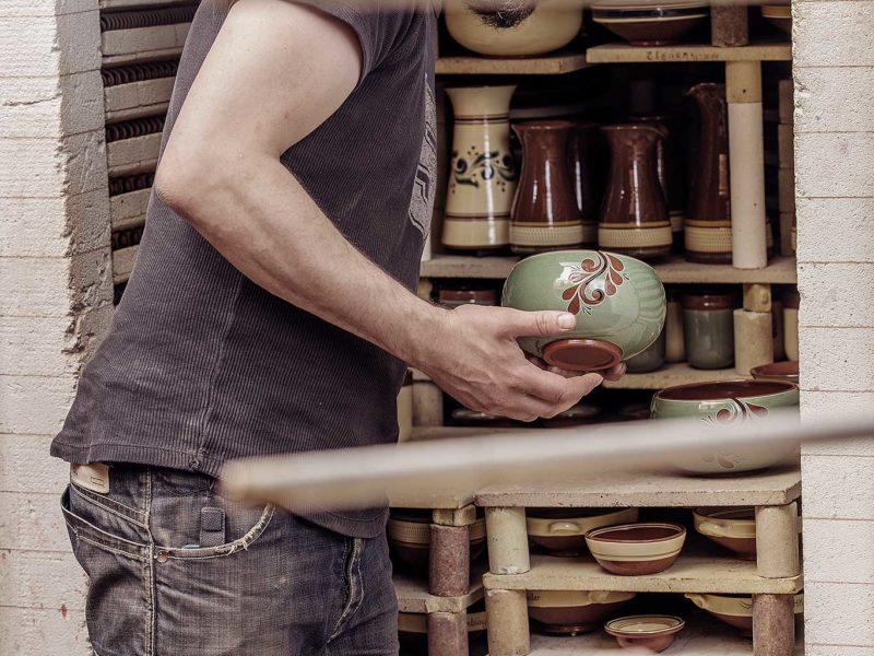 Strikkebolle. Potteriet Røros. Foto: Tom Gustavsen